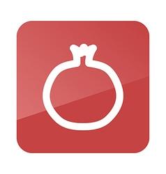 Garnet outline icon Fruit vector