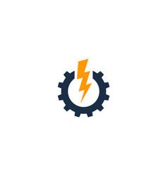 Gear power logo icon design vector