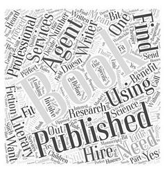 Getting a Book Published Do You Need an Agent Word vector