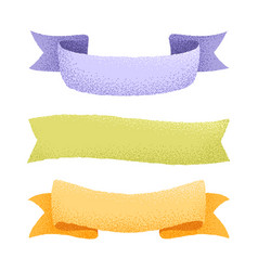 Graine ribbons collection vector