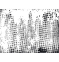 Grunge halftone dots background vector