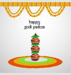hindu festival gudi padwa vector image