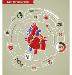 Human Heart health disease and attack infographic vector