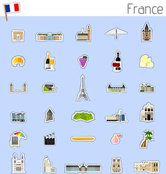 Icons of France vector image
