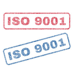 Iso 9001 textile stamps vector