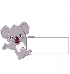 koala with sign vector image