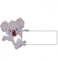 Koala with sign vector