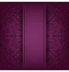 Lace purple background vector