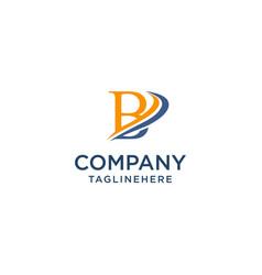 Letter b luxury swoosh corporate logo design vector