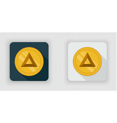 Light and dark basic attention token crypto vector