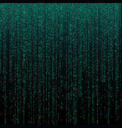 Matrix texture with digits binary code abstract vector