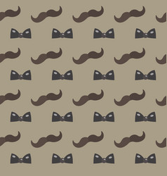 mustache bow tie seamless patterns father s day vector image