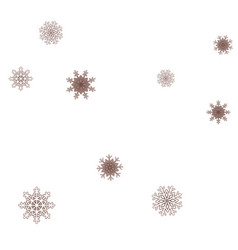 new year background with falling snowflakes vector image
