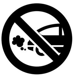 no exhaust forbidden sign modern round sticker vector image