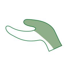 Open hand request vector