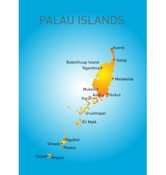 Palau map vector