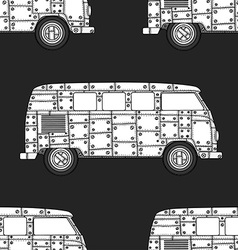 Pattern of Vintage car vector