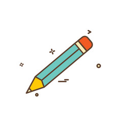 pencil school icon design vector image