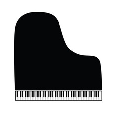 piano symbol and icon grand version vector image