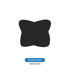 Pillow icon vector