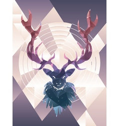 Polygonal Background with Deer2 vector image