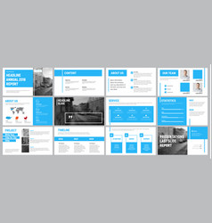 Presentation template with blue lines vector