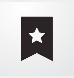 Reward favorite sign icon flat design sty vector