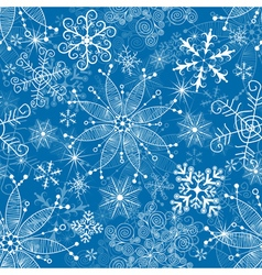 Seamless christmas blue pattern vector