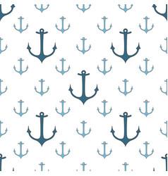 seamless pattern of marine symbols vector image