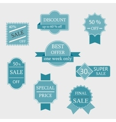 Set of sale labels and badges vector