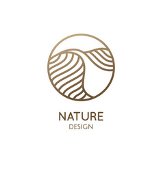 Simple logo pattern structure of desert vector