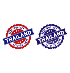 thailand best quality stamp with grungy effect vector image