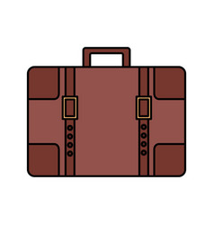 travel suitcase vintage vector image