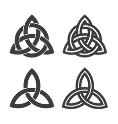trinity symbol filled and outlined style vector image