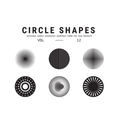 Universal circle shapes set vector