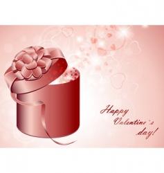valentine present vector image vector image
