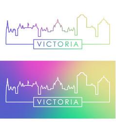 victoria skyline colorful linear style editable vector image