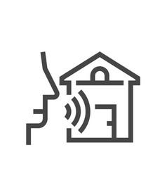 Voice command control recognition line vector