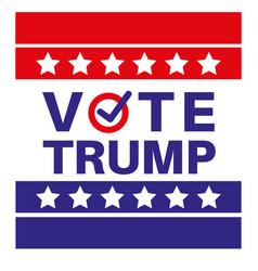 Vote trump us american presidential election 2020 vector
