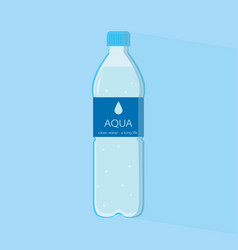 water in a bottle vector image