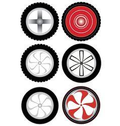 wheel v vector image