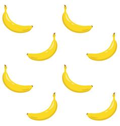 Yellow banana seamless pattern sweet tropical vector