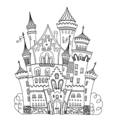 Castle coloring book for adults and children vector image