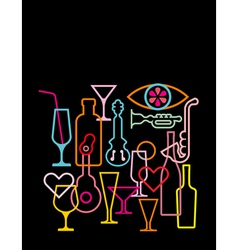 Nightclub neon sign vector