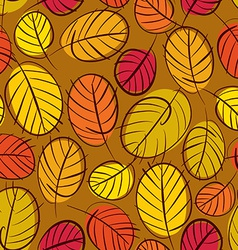 Autumn leaves seamless background floral seamless vector image vector image