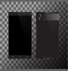 black smartphone with blank screen vector image