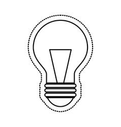 bulb light flat icon vector image
