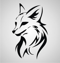 Fox Tattoo Design vector image vector image