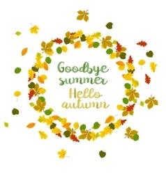 Hello autumn Goodbye summer vector image vector image