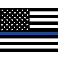 Police Law Enforcement American Flag vector image vector image